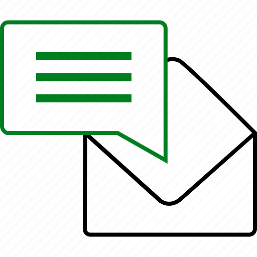 chat, communication, envelope, message, note, notification, text icon
