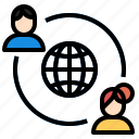 avatar, connections, globalnetwork, network, social, socialnetwork icon