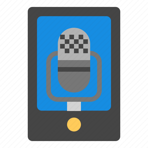 Audio recording, smartphone icon - Download on Iconfinder