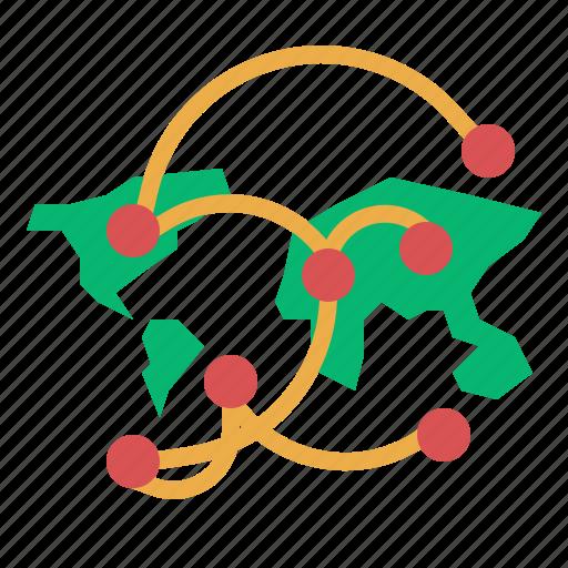 connectivity, network, world icon