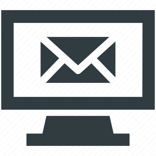 computer email, computer mail, lcd, message, monitor icon