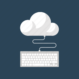 cloud, computing, hosting, internet, keyboard, network, services icon