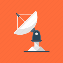 antenna, broadcast, communication, dish, satellite, signal, wireless icon