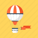 advertising, air, balloon, flight, fly, promotion, travel icon