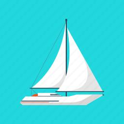 boat, sailboat, sailing, sea, ship, travel, yacht icon