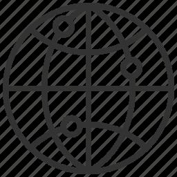 communication, earth, globe, internet, network, world icon