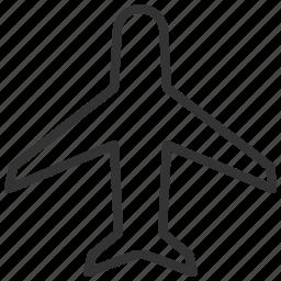 airplane, plane, traffic, transportation, travel icon