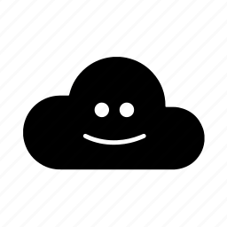 cloud, face, happy, smile icon