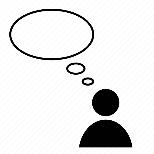 blank, bubble, communicate, empty, person, thought icon