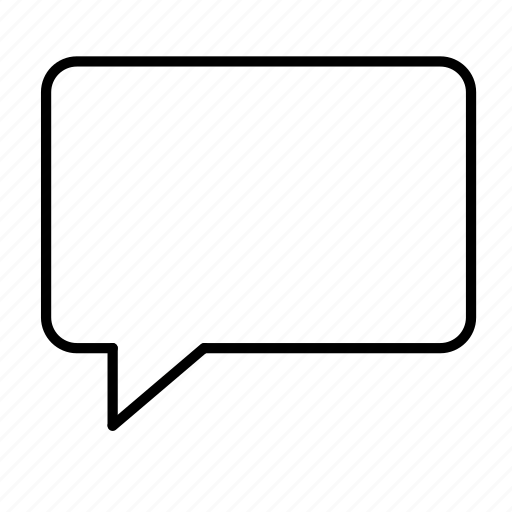 blank, bubble, communicate, speech icon