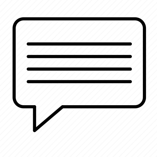 bubble, communicate, lines, speech icon