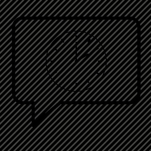 bubble, clock, language, speech icon
