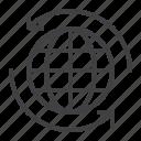 worldwide, business, transportation, shipping icon