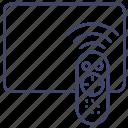 remote, tv, control, media