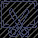 screen, cut, capture, screenshot icon