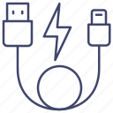 connect, cable, lightning, usb icon