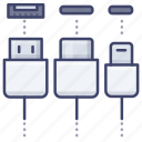 usb, connection, port, cable icon