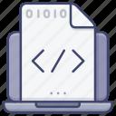 code, program, coding, hack icon