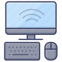 display, computer, mouse, keyboard icon