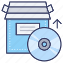 disc, install, cd, product icon