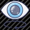 vision, rotate, eye, look