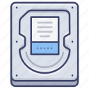 disk, hard, hardware, drive icon