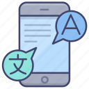 translate, phone, language, setting icon