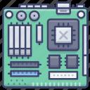 motherboard, hardware, computer, chips
