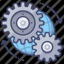 gears, preferences, global, settings
