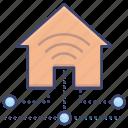 house, intelligent, smart, technology icon