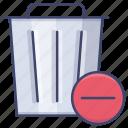 delete, trash, can, remove