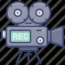 camera, film, record, video