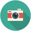 camera, long shadow, movie, photo, photograpy icon