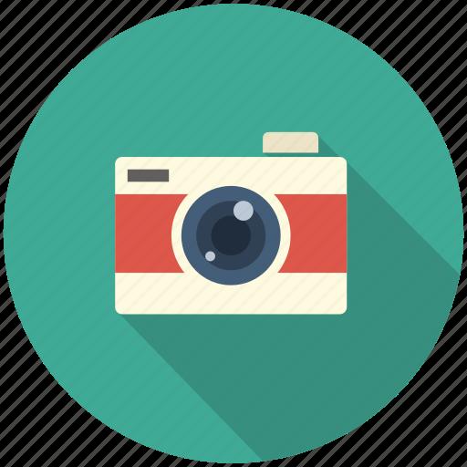 camera, long shadow, movie, photo, photograpy icon