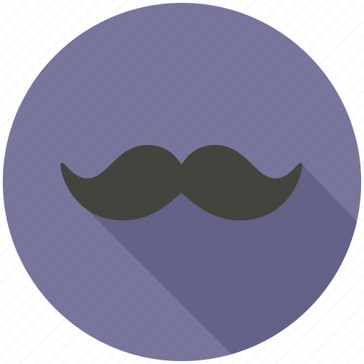 long shadow, mustache icon