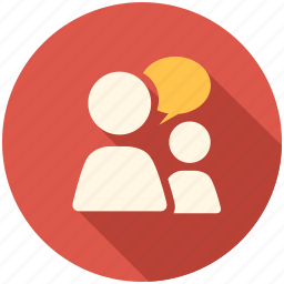 chat, communication, conversation, long shadow, people, person, talk, talking icon