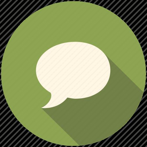bubble, communication, long shadow, speech, talk, talking icon