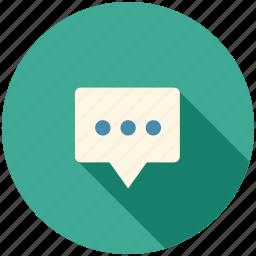 communication, long shadow, speech, speech bubble, talk, talking icon
