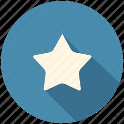 blue, favorite, long shadow, star icon