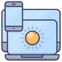 screen, light, brightness, brilliance icon