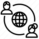 globalnetwork, socialnetwork icon