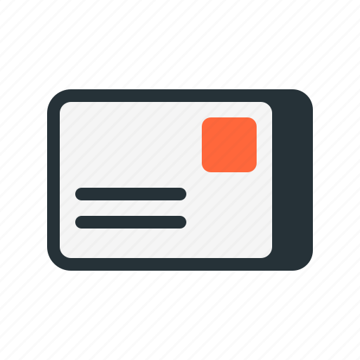 card, greeting, letter, mail, postal, postcard icon