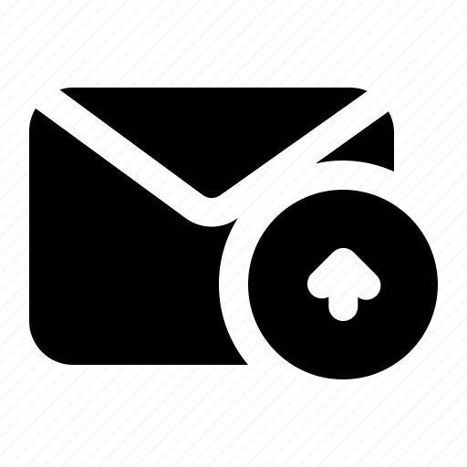 envelope, message, sent, upload icon