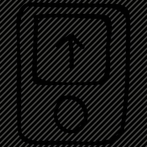 ipod, multimedia, up, upload icon