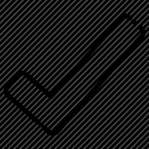 brokenline, check, checked, list icon