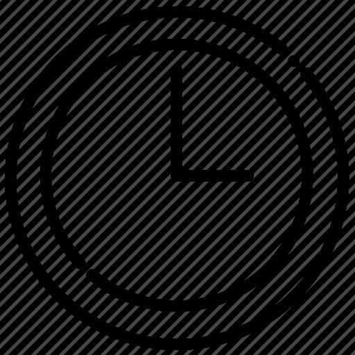 brokenline, clock, hour, schedule icon