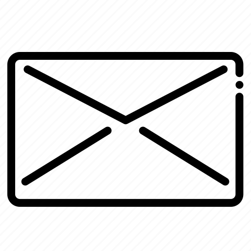 brokenline, closed, closed mail, mail icon