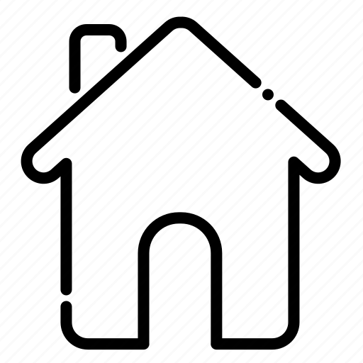 brokenline, home, house icon
