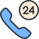 call, communications, day, night icon