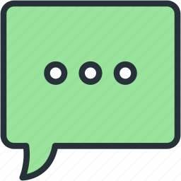 bubble, communications, speech, typing icon
